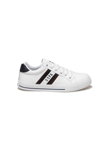 U.S. Polo Assn. Erkek Ayakkabı Pure 100910668 Beyaz